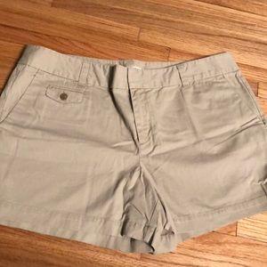 LOFT Cotton Khaki Shorts
